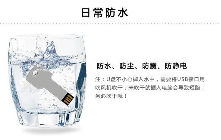 Color Metal U Disk 2G to 32G Customized Logo Key USB Memory Stick 3