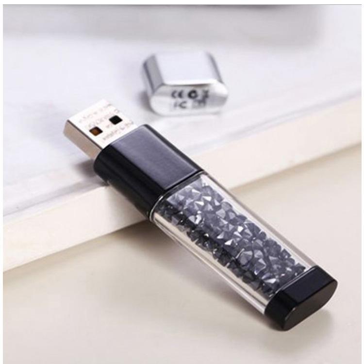 水晶U盤+水晶筆套裝商務禮品兩件套可定製LOGO廠家直銷 可單賣U盤 2