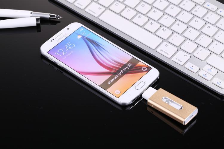 iPhone7安卓电脑 三合一u盘 苹果手机U盘 安卓手机u盘 可定制各种容量 3