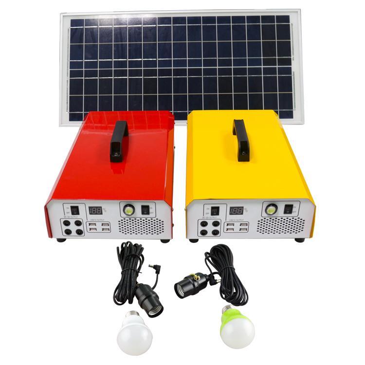 便携太阳能发电机照明小系统 户外220V交直流逆控一体机储能电源 2
