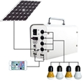 Portable solar power lighting system for home use