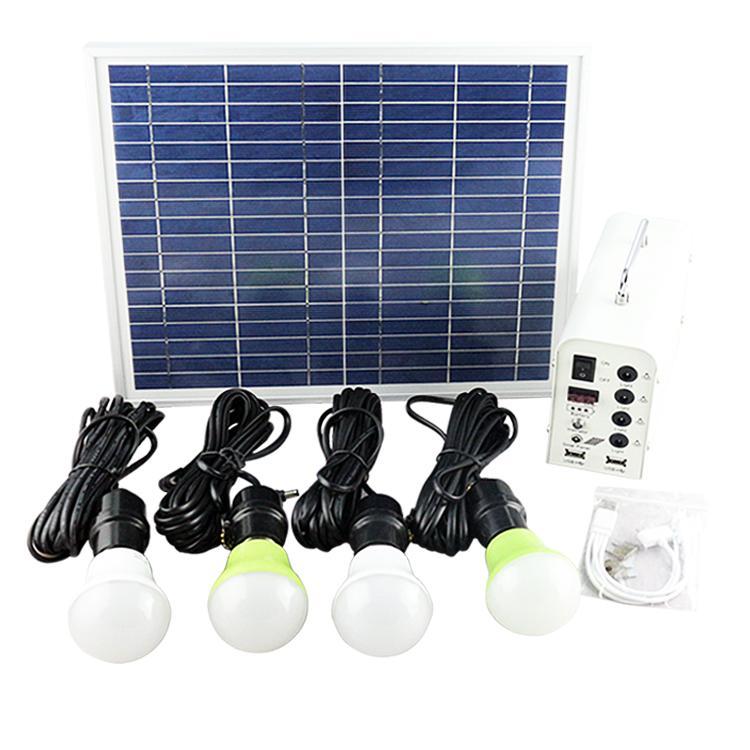 家用便携式太阳能发电照明小系统 2