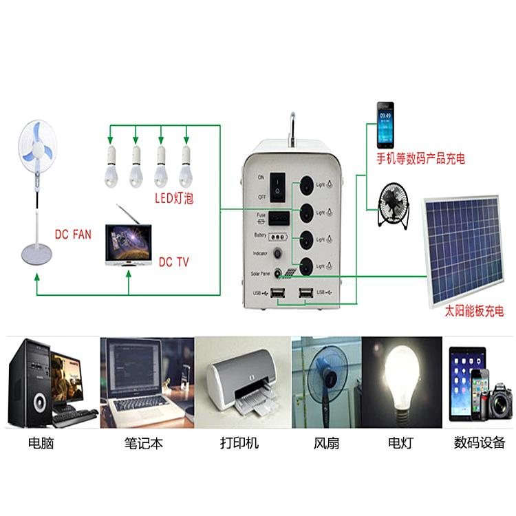 Portable solar power lighting system for home use 4