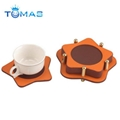 Factory direct hot sale leather coasters