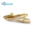 Trendy men metal simple necktie tie bar clasp clip gold tie clips for business