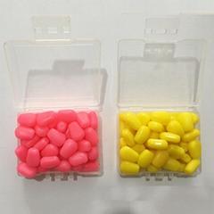 50pcs soft corn fishing lure in box