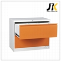 Colored two drawer lateral  cabinet