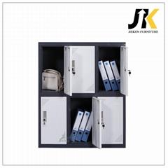 Kids mini metal lockers for bedroom with 6 doors