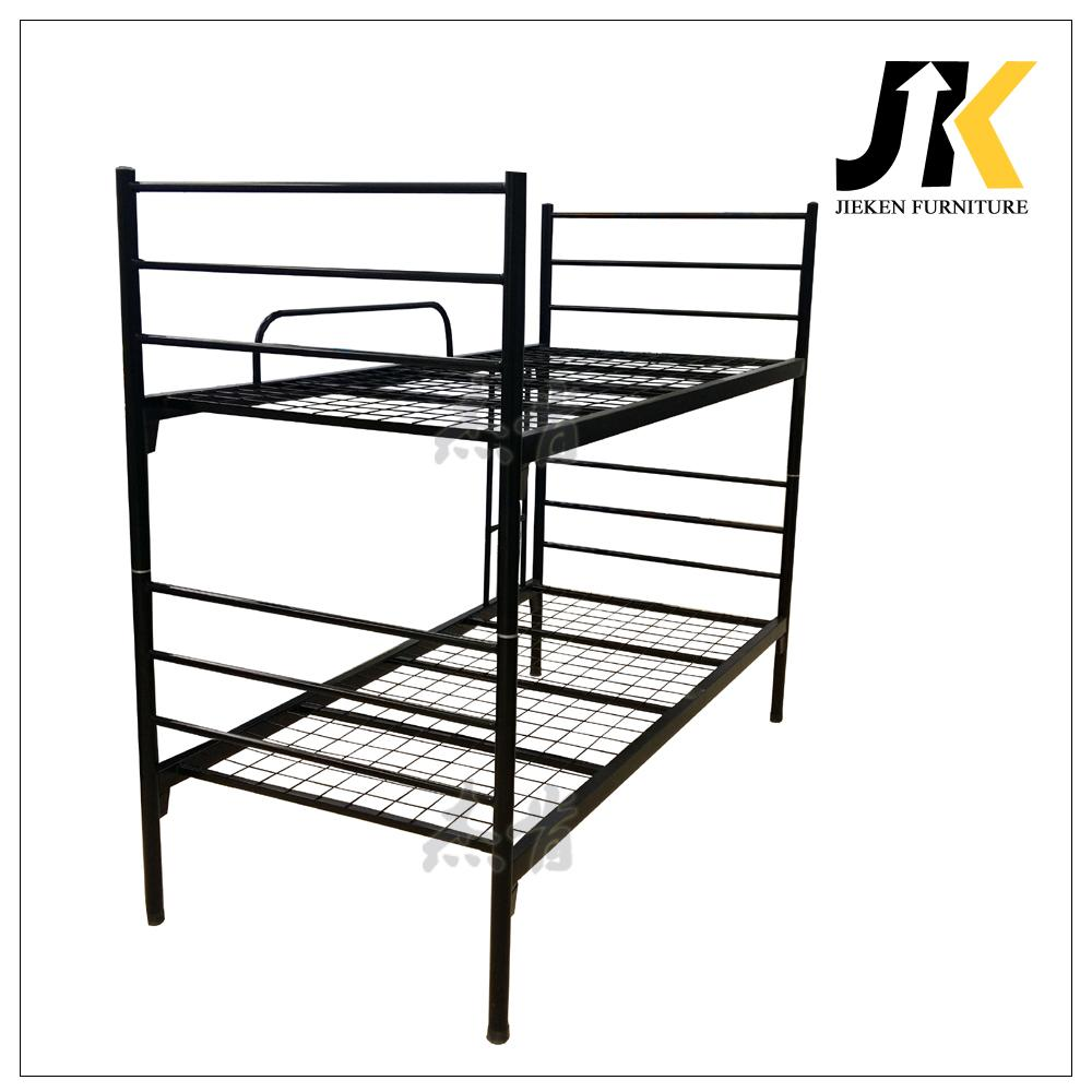 Cheap dormitory adult metal frame bunk beds for office school or army 2
