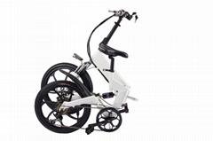 爱路卡登电动车可折叠两轮自行车14寸手提代步车