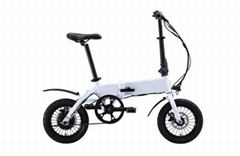 爱路卡登电动车两轮折叠自行车带显示屏成人代步车