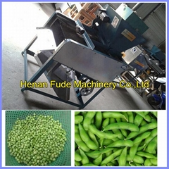 Green soy bean sheller