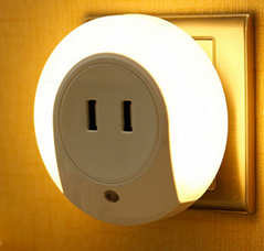 Mutifuction USB Socket and LED light  night sleep bedside lamp