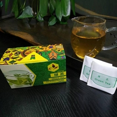 Cheap wholesale pouch packed broken green tea teabag