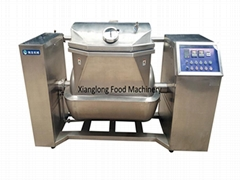 Automatic vacuum horizontal stirring pot