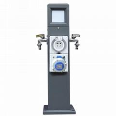 指印工业防水插座柱智能水电桩 房车营地游艇码头岸电箱
