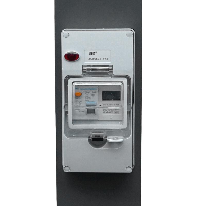 指印工業防水插座柱智能水電樁 房車營地遊艇碼頭岸電箱 4