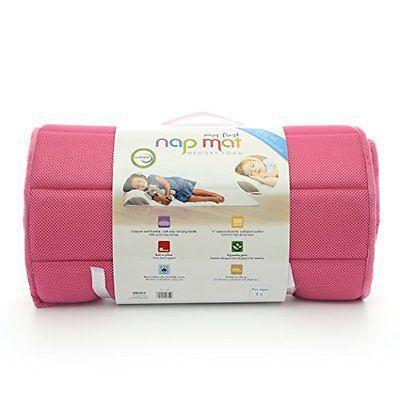 My First Mattress Memory Foam Nap Mat with Removable Pillow  1