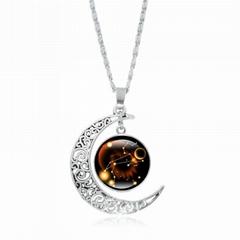 女士月光宝石项链