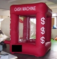 Popular inflatable cash cube/inflatable money machine booth for fun 3
