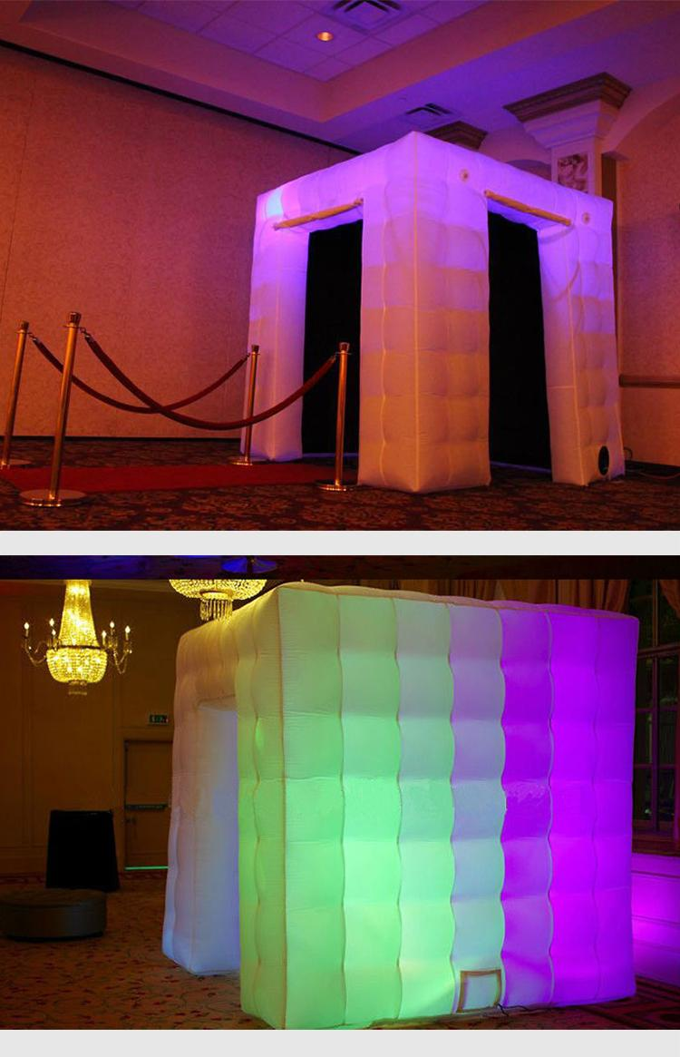 Led portable inflatable photo booth tent inflatable cube for advertising wedding 5