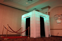 Led portable inflatable photo booth tent inflatable cube for advertising wedding