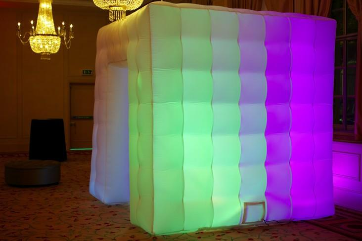Led portable inflatable photo booth tent inflatable cube for advertising wedding 3