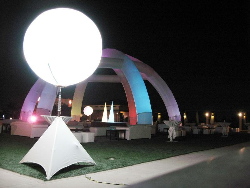 Inflatable hanging LED inflatable sphere ball for the decration  2