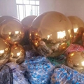 large hanging pvc gold inflatable mirror