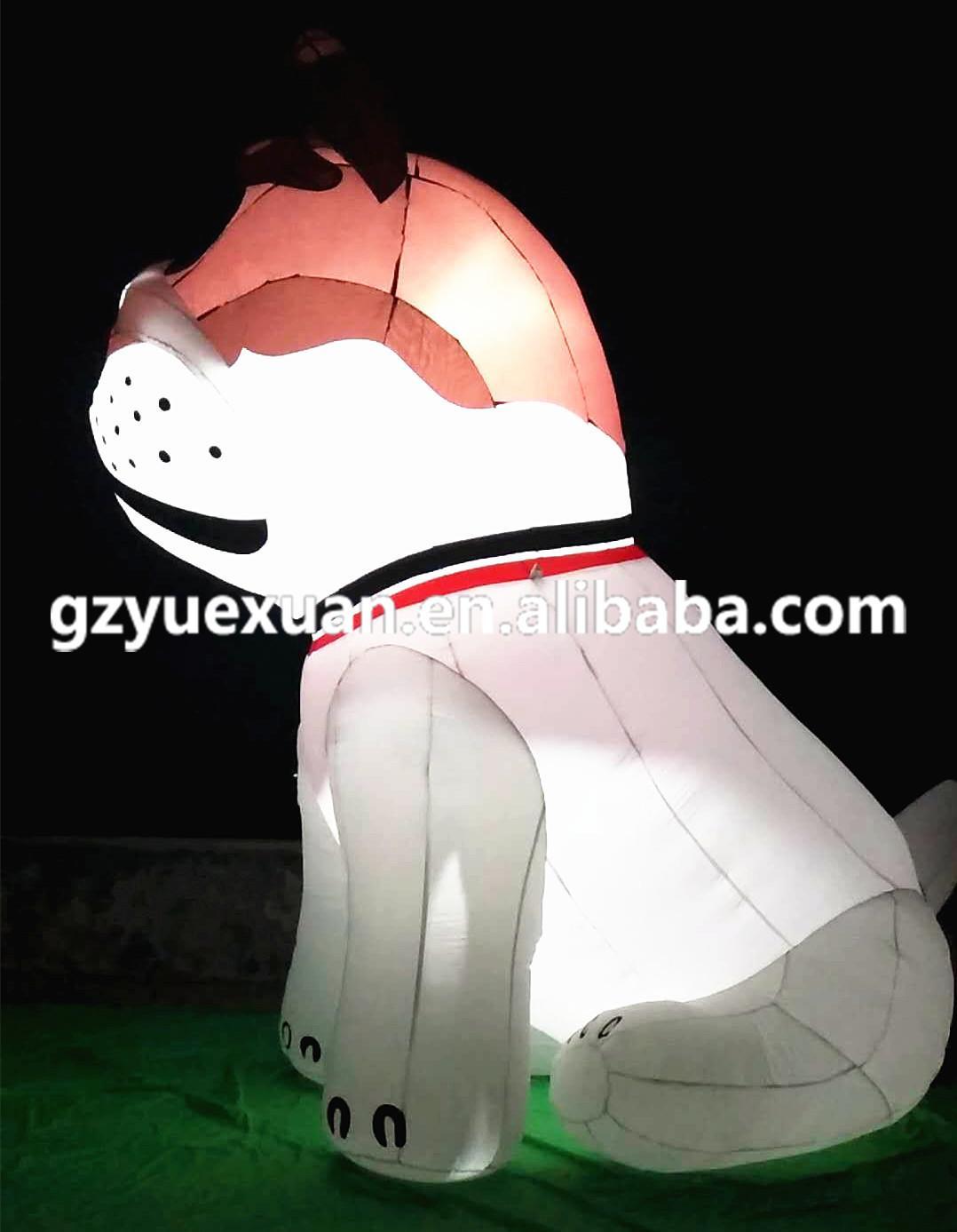Giant inflatable dog with custom printing logo 1