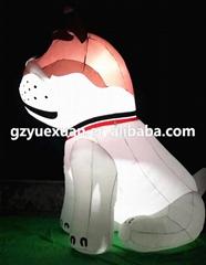 Giant inflatable dog with custom printing logo