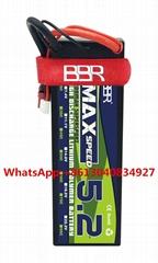 5200mAh 2S hardcase rc lipo battery for rc car.