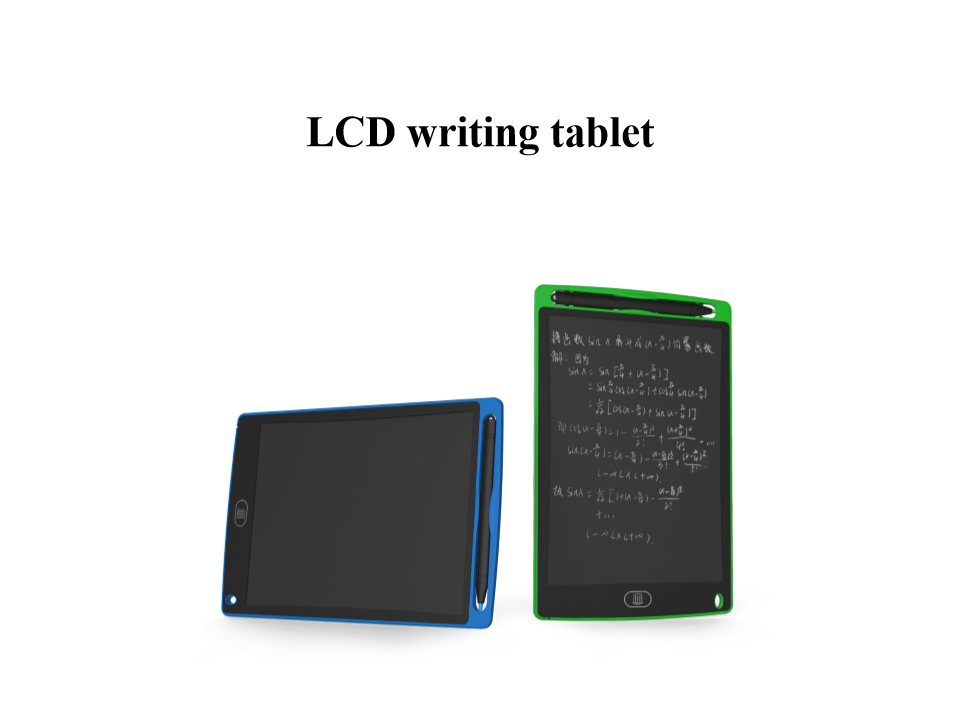 8.5'' 12'' LCD writing board drawing table memo e-writer pad office supplier  1