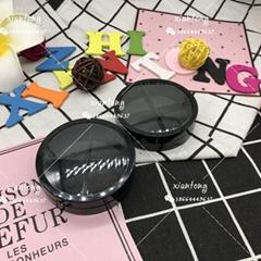 眼影盒 XT5959 圆盒 四格 扇形 注塑色 彩妆包材 多色眼影盒