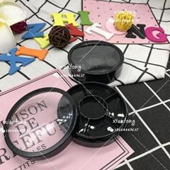 眼影盒 XT5858 圓盒 5環扇形+1中圓 注塑色 彩妝包材 多色 6色
