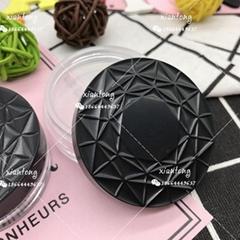 散粉盒 XT4545 扁盒 粗面盖 注塑色 硅胶垫片 彩妆包材