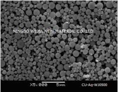 Ultrafine Silver-coated copper powder