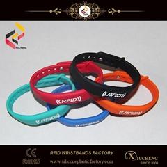 Adjustable Silicone RFID Wristband NFC RFID Bracelet