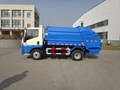 5T rear loading compressor garbage truck