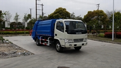 6.5T rear loading compressor garbage truck