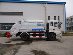 12T rear loading compressor garbage truck 0