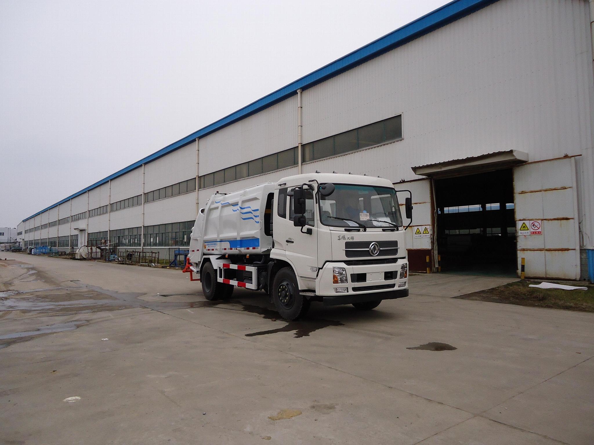 12T rear loading compressor garbage truck 0 2