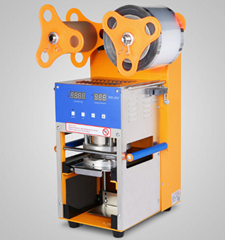 Automatic plastic cup sealing machine