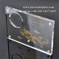 Custom design Plexiglass PMMA acrylic coin holder with magnets 1