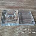 Custom design Plexiglass PMMA acrylic coin holder with magnets 4