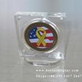 Custom design Plexiglass PMMA acrylic coin holder with magnets 5