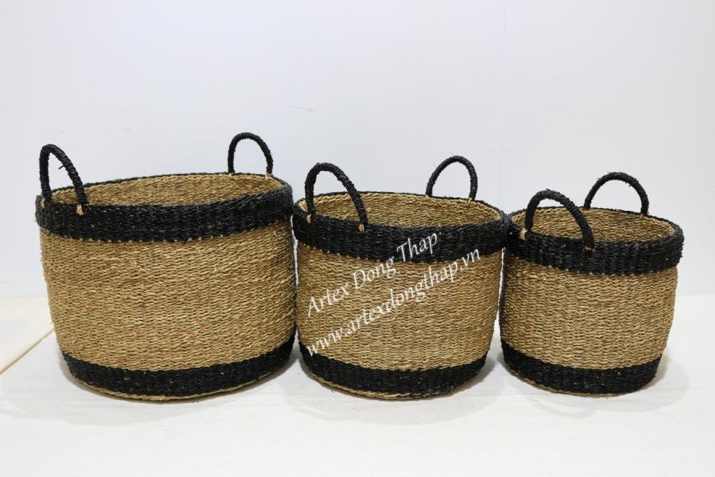Eco-friendly seagrass baskets-BH4322A-3MC 1