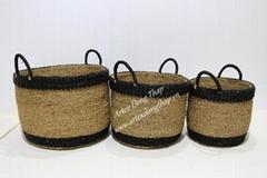 Eco-friendly seagrass baskets-BH4322A-3MC