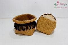 Hot item storage palm leaf baskets - BH4783A-2NA