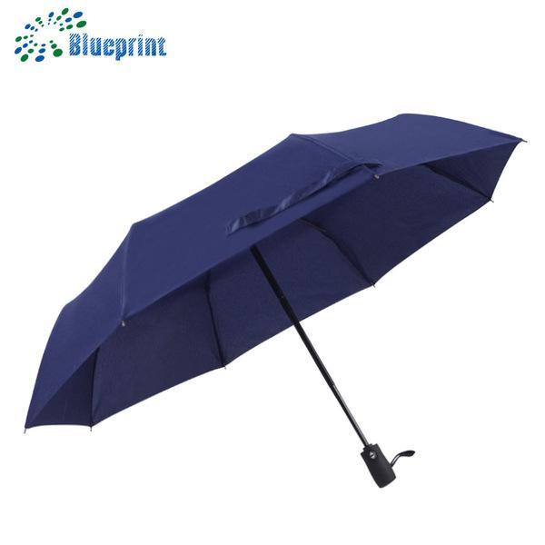 深圳雨伞厂家定做高档全自动三折折叠商务礼品广告伞 1